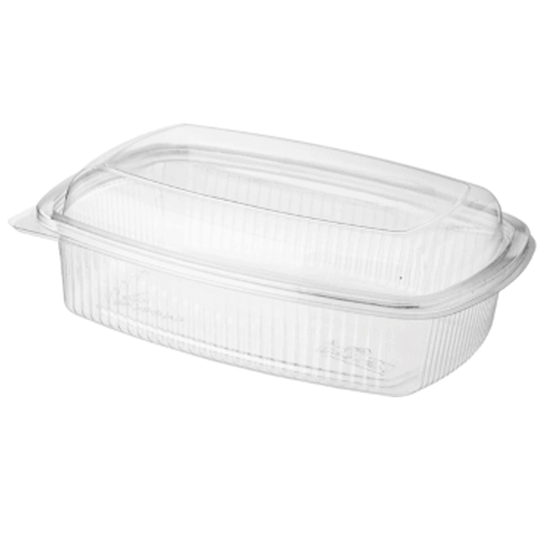 750 ml Pet clear container hinged