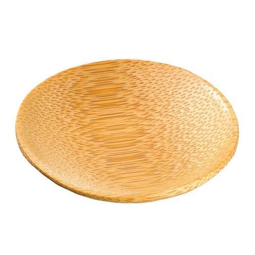 Bamboo Tasting Plate Round X 12