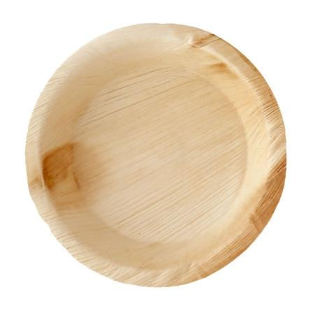PALM LEAF PLATE LIP ROUND  15 CM x 25