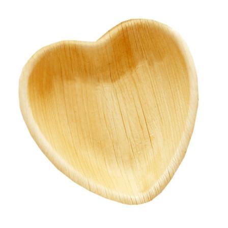 PALM LEAF PLATE HEART  16X17  CM x 25